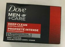Lot of 12 Dove Men+Care DEEP CLEAN Moisturizing Cream Bar Soap 4 oz U.S.A.