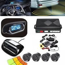 Wireless Auto Car LED Display Parking Reverse Buzzer Alarm Kit 4 Radar Sensor US