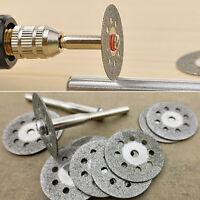12x Useful Rotary Tool Circular Saw Blades Cut Wheel Discs Mandrel Cutoff
