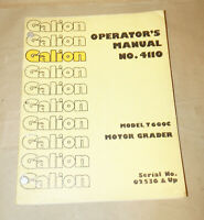 Champion Motor Grader 700 710-760 Series Owners Operator ...