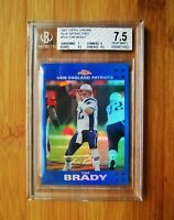 2007 Topps Chrome Blue Refractor #TC6 -TOM BRADY - BGS 7.5