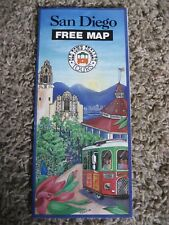 San Diego, OLD TOWN TROLLEY TOURS ~ Map, 1995