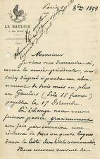 Lettera su Carta Intestata della Rivista Le Galulois Quotidiano di Parigi 1894
