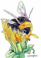 ACEO Limited Edition- Bee, Art print of an original watercolor