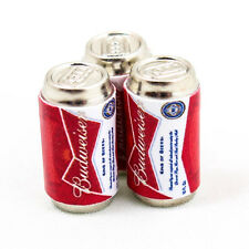 1PCS x Budweiser Can Beer Miniature Dollhouses Handmade Food Supply 1:12 A1433