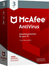 McAfee Antivirus Plus 2019/2020 - 1Year Subscription -3 PCs (Only For PCs)