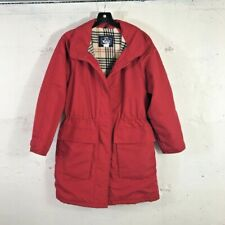 Vintage Woolrich Woman Red Plaid Flannel Lined Parka Made in USA Size: Small