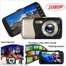 "1080P 4.0"" Dual Lens Car Rearview Camera Dashcam DVR Video Recorder Night Vision"