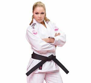 Fuji Womens Women Blossom Brazilian Jiu Jitsu Gi Jiu-Jitsu BJJ - White w Pink