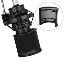 Dual Layer Recording Studio Microphone Mic Windscreen Pop Filter Mask Shield