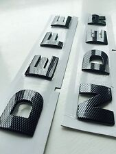 DEFENDER GLOSS CARBON FIBRE 3D BONNET LETTERING LAND ROVER 90 110 LETTERS BADGE