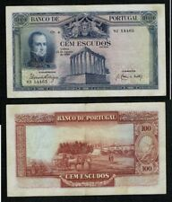 PORTUGAL MUY RARO BILLETE de 100 ESCUDOS. 12 de agosto de 1930. Serie VJ 14465.