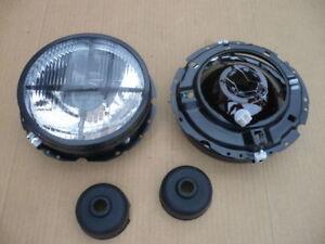 Scheinwerfer tuning schwarz mit Fadenkreuz für VW Volkswagen Golf 1 I Satz