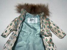 Barbie Doll Silkstone Original Coat Fur Fashion Clothes