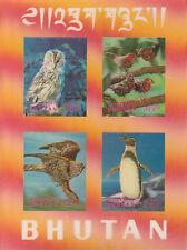 Bhutan 4781 - 1969 BIRDS #1 m/sheet in 3D FORMAT