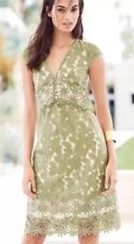 BNWT🌹Next🌹Size 8 Tall Green Lace Floral Mesh Summer Day Dress Evening New