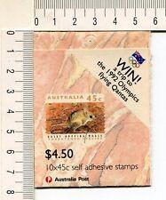 41251) Australien 1992 MNH QEII 45c (x10) Thretned Species Booklet