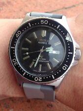 Citizen Crystron Diver's 150 mt Vintage Quartz Uhr Montre Orologio Watch 7301A