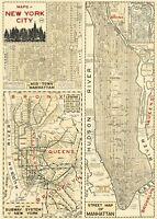 Cavallini New York City Map Flat Wrap