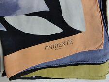 Foulard carré Torrente Paris en soie
