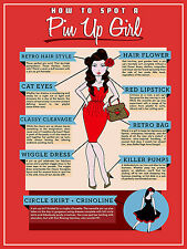 How to spot a pin up girl ,Retro metal Sign vintage pub bar man cave shed