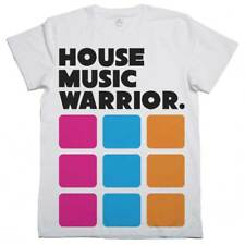T-Shirt house music Warrior, T-Shirt DJ Musik Elektronik, Diskothek, Partei-w