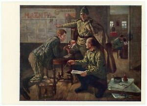 1966 Compilation wall newspaper Red Army Military Man PERELMAN Russian Postcard