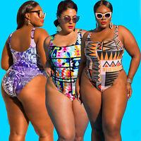 Brazilian Plus Size Swimwear Bathing Suit Women Monokini Swimsuit Floral Bikini