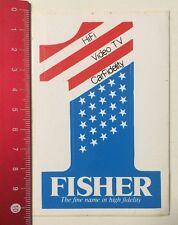 ADESIVI/Sticker: Fisher-The fine nome in alta fedeltà 1 (030516181)