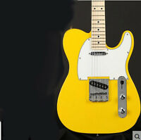 Yellow Professional High-Grade Basswood 22 Frets Fixed Bridge Electric Guitar #