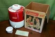 Rare 1960's Coleman Two Gallon Jug with Box & dox early advertising 5 cent stamp