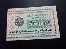 BOSNIA RRR 50 MILLION  USD 1996 UNC KARAĐIĆ MLADIĆ MILOŠEVIĆ NATO LEFT