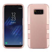 For Samsung Galaxy S8 Plus Rose Gold Tuff Hard TPU Hybrid Plastic Case Cover