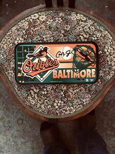 Original Cal ripken Jr Cardboard License Plate Autographed