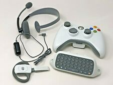 Official Microsoft Xbox 360 Controller, Chatpad & Head Set Wired/ Wireless Lot