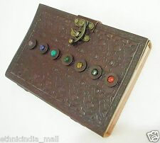 Handmade LARGE Leather Journal Sketchbook Antique Diary Book of Shadows Notebook