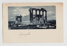 Athens,Greece,Temple Erechtheum,Pre-Printed w/ a Greek 5 Lepta Stamp,c.1898-1906