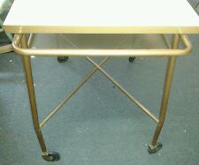 Vintage Mid Century Retro Style Formica Top Rolling Bar Cart or Desk Functional