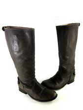 FRYE WOMEN'S MELISSA BUTTON BACK ZIP COMFORT KNEE-HIGH BOOT GREY US SIZE 7.5 MED