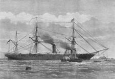 DEVON. Steam-Tug at Plymouth taking Troops to the Himalaya for the Ghana, 1873