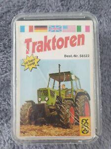 Quartett Kartenspiel FX Schmidt Traktoren 70er Jahre Rar Vollständig L