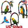 Colorful Parrot Bird Cage Toys Cockatiel Budgie Lovebird Wooden Parrots Swings