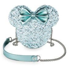 New listing Nwt Disney Parks Arendelle Aqua Sequined Minnie Mouse Loungefly Crossbody Frozen