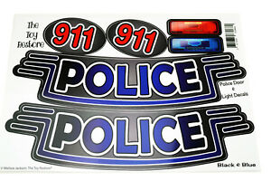 Replacement Decals Stickers fits Little Tikes Cozy Coupe Cop Car Truck Police