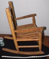 Old  OAK    Child's  slat   Rock er     Porch  rocker  Chair      Doll chair