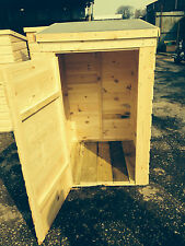Wooden storage bin shed