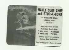 MANLY SURF SHOP STOR A BORD Sticker Decal RETRO VINTAGE LONGBOARD Surfing