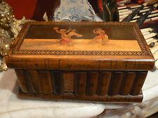 ancienne boite 19 eme italienne sorrento marqueterie mozaique danseurs napoli
