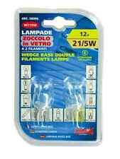 LAMPADA CON ZOCCOLO IN VETRO W21/5W 12V 21/5W W3x16q 2PZ COD.58096