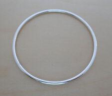 Plata De Ley 925 Esclava Redondo brazalete 70 mm de diámetro & 3 mm Grosor